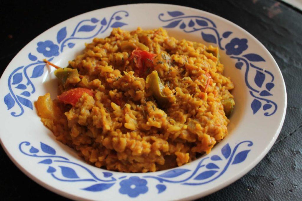 Krémové zeleninové rizoto s kari