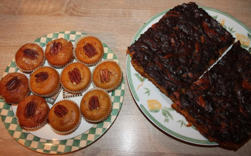 Dýňové muffiny a čokoládově dýňový koláč