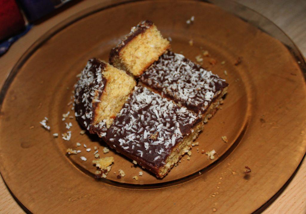 Vegan coconut-chocolate cake