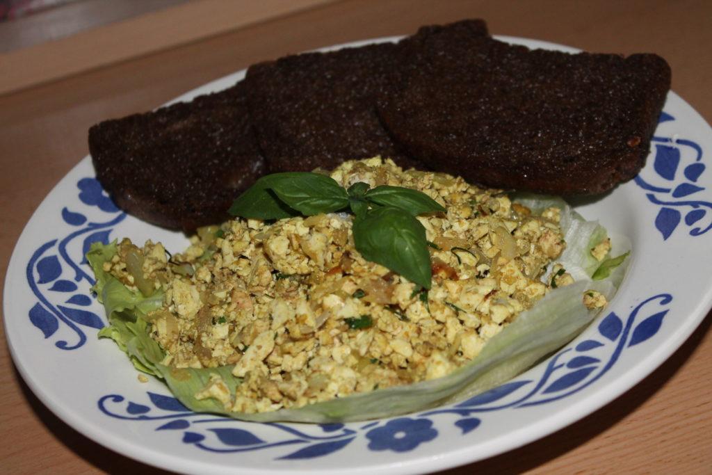 Vegan tofu eggs