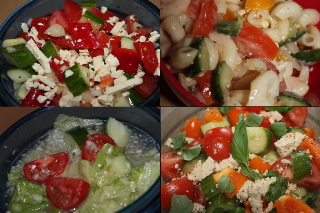 summer vegetable salads
