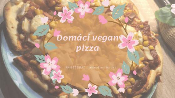 vegan domácí pizza